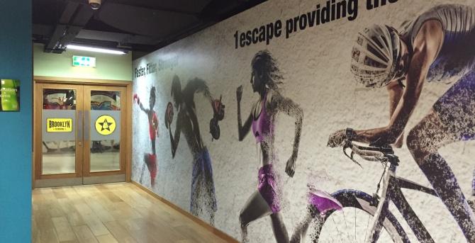 Wall Vinyl, Wall Art for 1escape Health Club