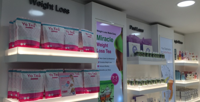 Raised lettering for Therapy Retail outlet