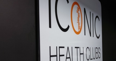 Wall interior Sign for Icon Gym