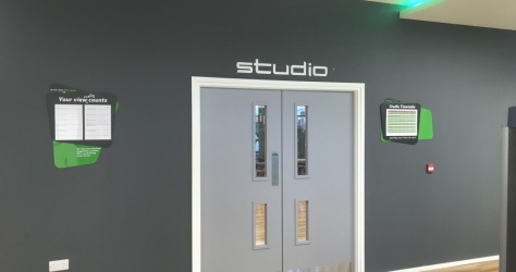 Internal signage- energie fitness clubs