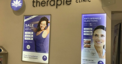 Light boxes for Retail Unit – Therapie Clinic