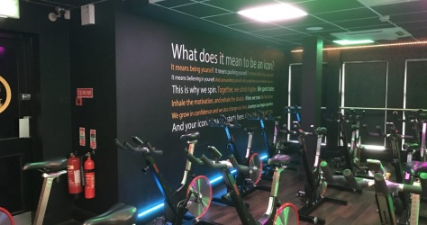 Wall Vinyl for Iconic Health Clubs