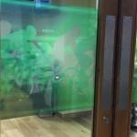 Glass vinyl for door